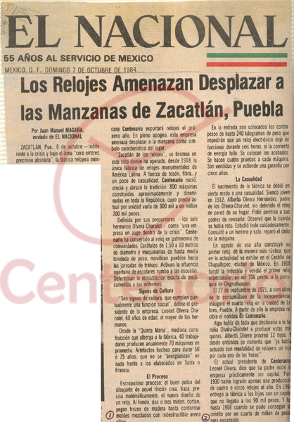 Relojes Centenario Periodicos Y Publicaciones
